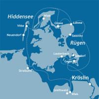 mediamare yachtcharter: Törnvorschlag Hiddensee und Rügen
