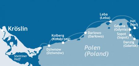 mediamare yachtcharter: Polnische Ostseeküste