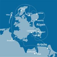 mediamare yachtcharter: Törnvorschlag Rund Rügen