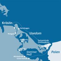 mediamare yachtcharter: Törnvorschlag Rund Usedom